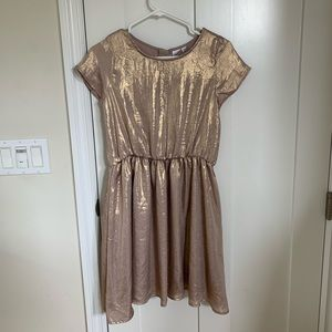 Gap Girls Gold Champagne Party Dress